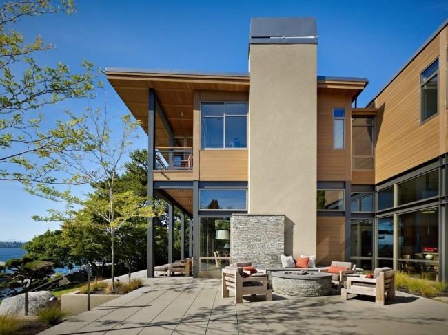 Maison à ossature de style moderne