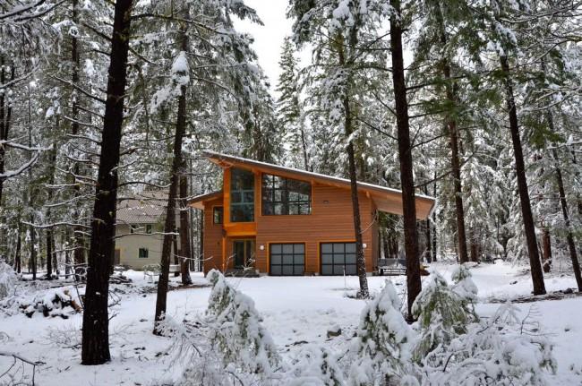 En raison de ses propriétés d'isolation thermique, la maison à ossature sera chaude même en cas de fortes gelées.