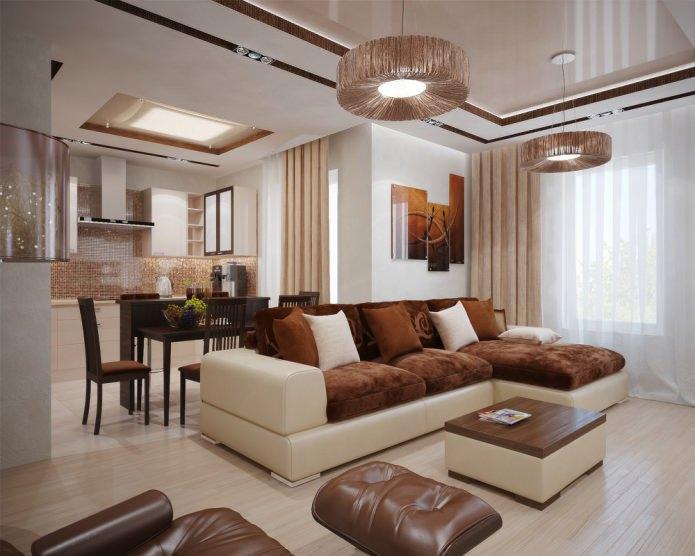 photo d'un canapé d'angle dans le salon