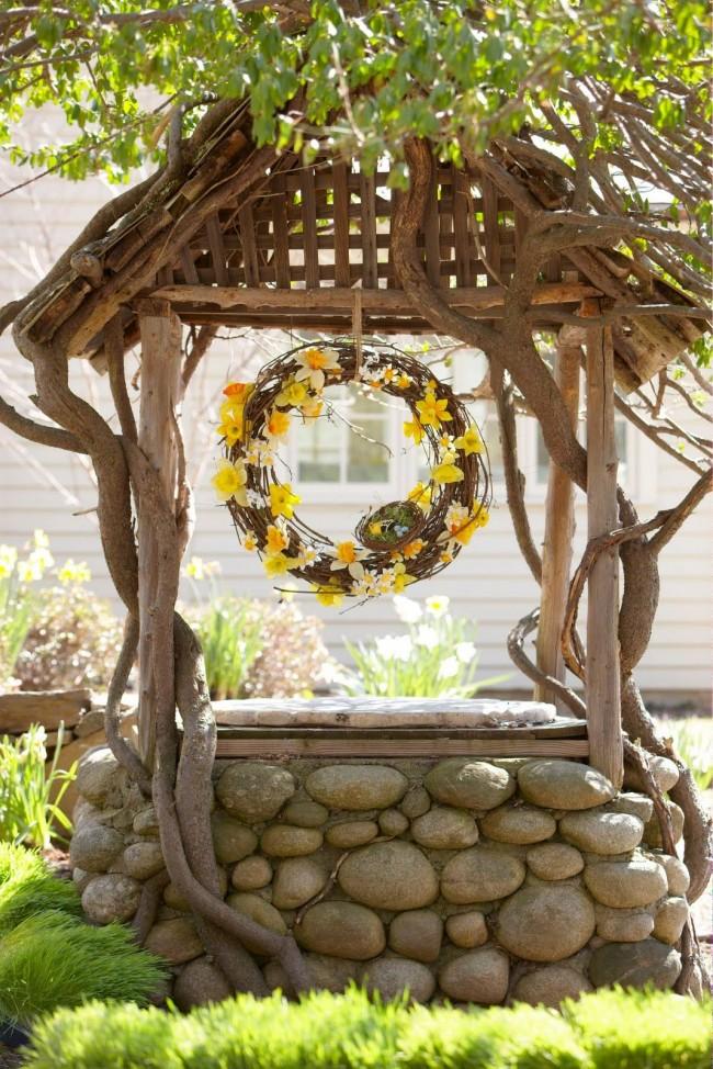 Un puits décoratif doit s'intégrer harmonieusement dans l'aménagement paysager