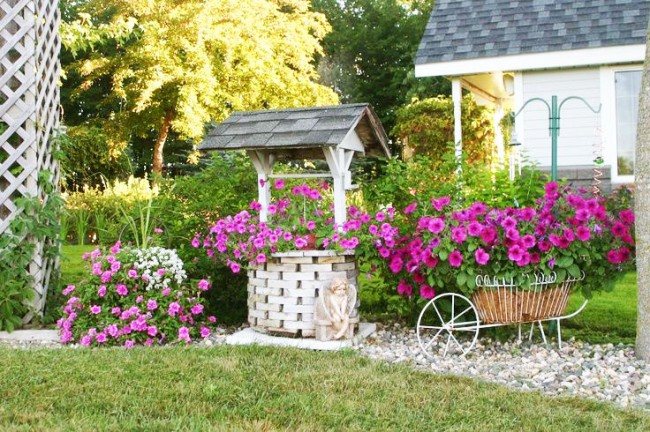 Décoration bien décorée de fleurs colorées