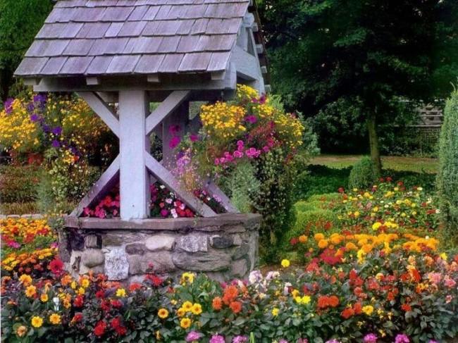 Le but principal d'un puits décoratif est une fonction esthétique.