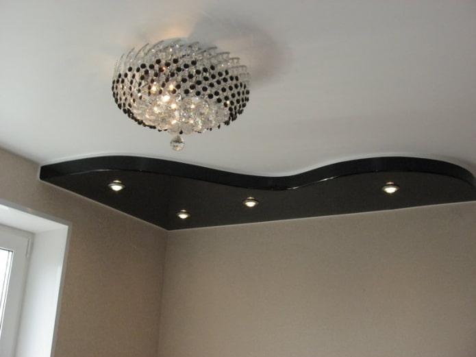 plafond avec coins noirs