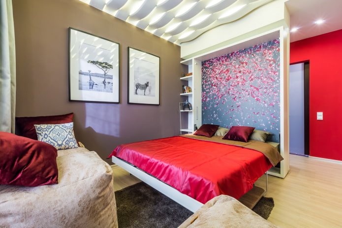 lit dans un petit appartement