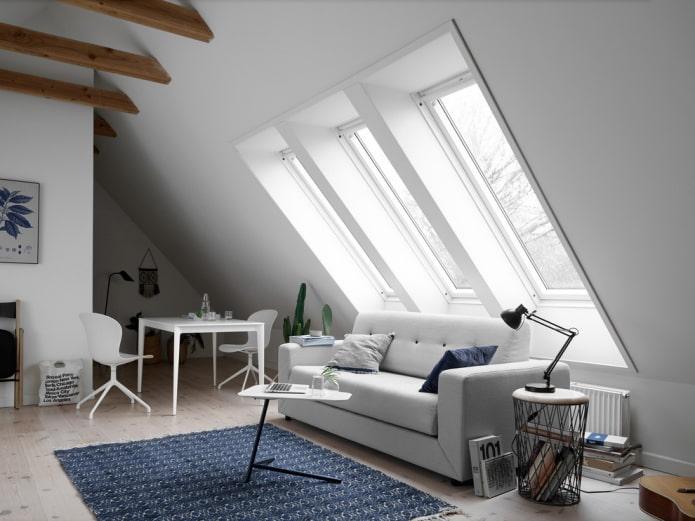 Canapé-lit plié