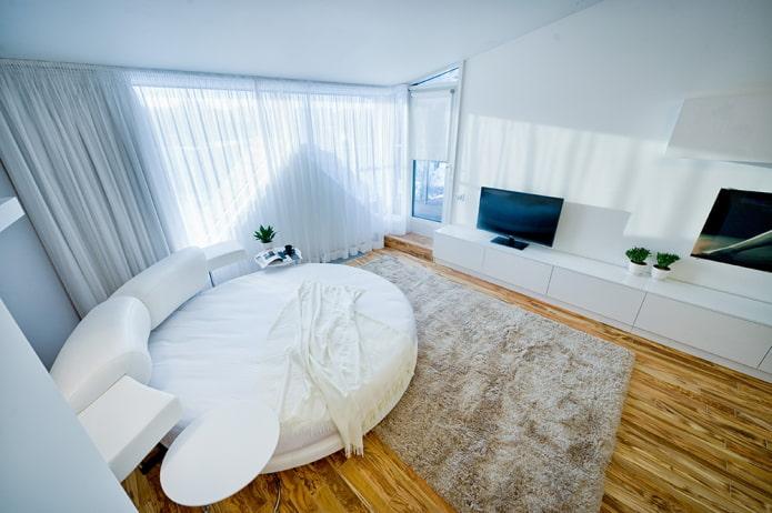 canapé-lit rond