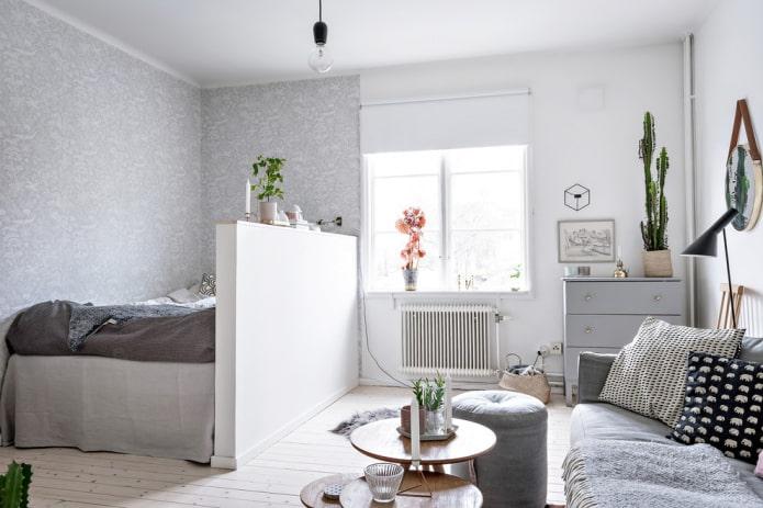 Cloison en plaques de plâtre entre chambre et salon