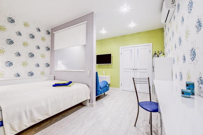 Séparation entre chambre et salon