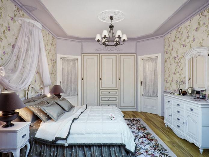 chambre lavande dans le style provençal