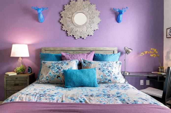 Chambre bleu lavande