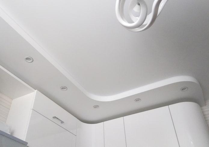 tissu extensible mat en blanc
