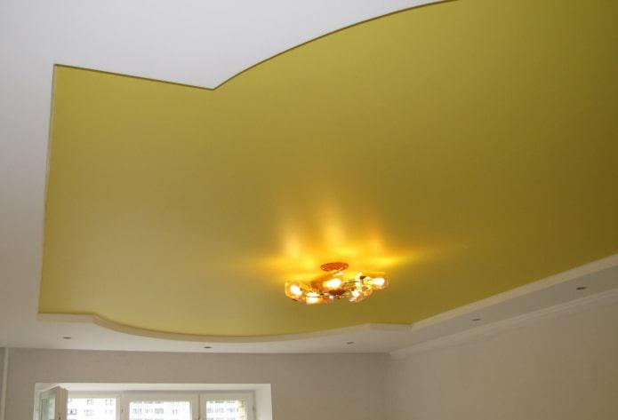 tissu extensible mat jaune