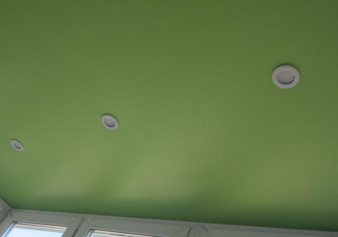 tissu extensible vert mat