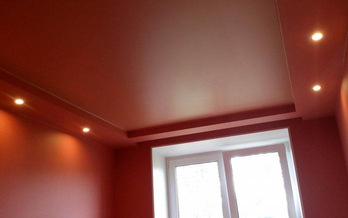 tissu extensible rouge mat