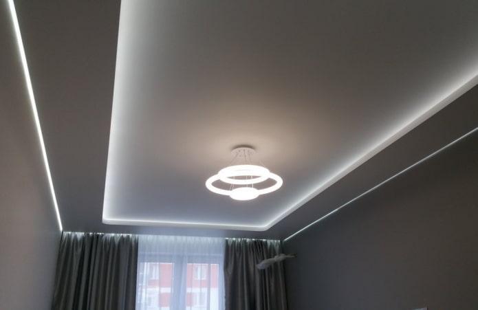 tissu mat avec éclairage intérieur
