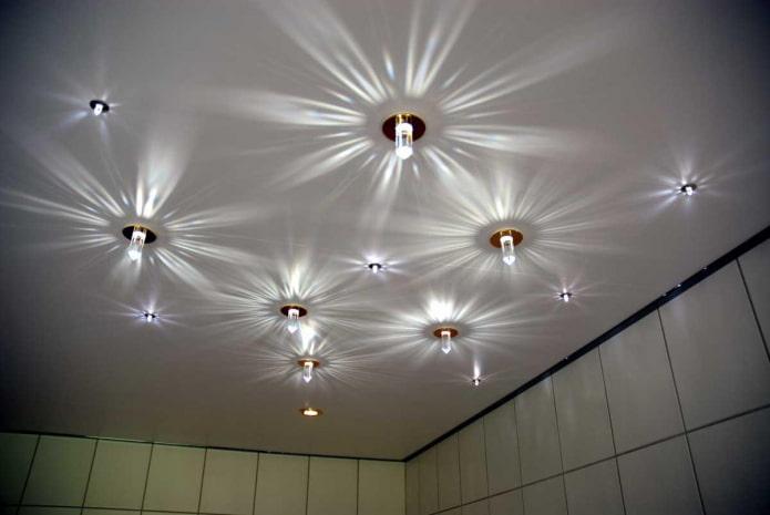 tissu extensible mat avec des ampoules
