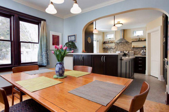 arc entre cuisine et salle a manger