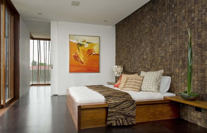carreaux de mosaïque de noix de coco dans la chambre