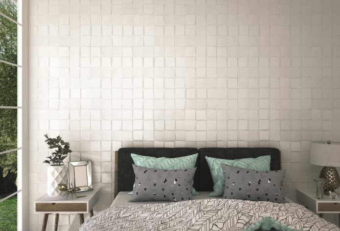grands carreaux de mosaïque dans la chambre