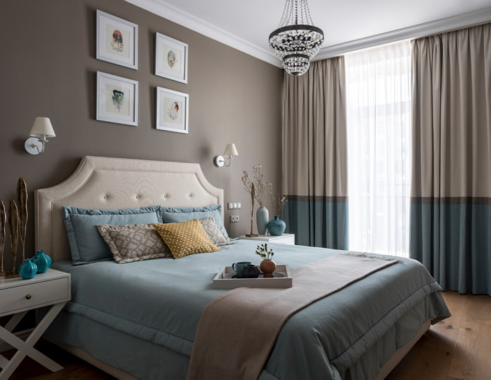 rideaux de nuit dans la chambre