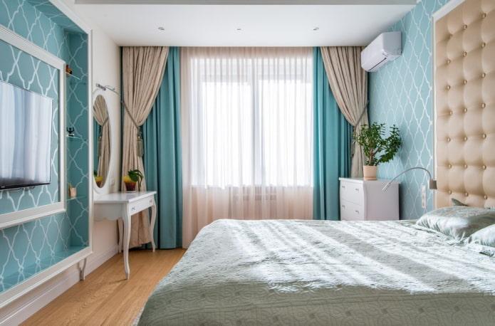 rideaux de nuit combinés dans la chambre