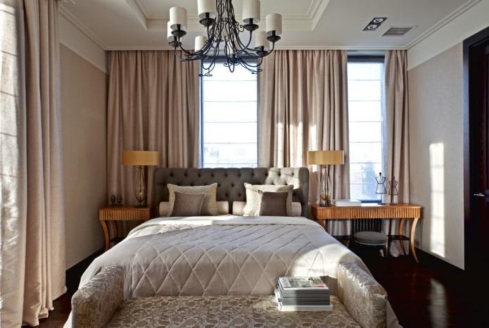 rideaux de nuit solides dans la chambre