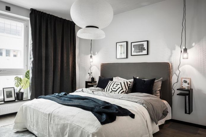rideaux de nuit noirs dans la chambre