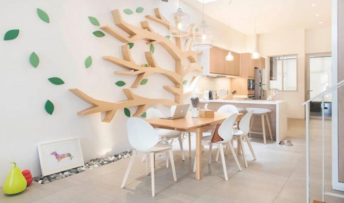 arbre sur le mur