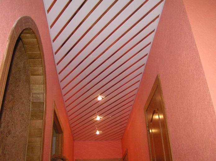 structure suspendue à crémaillère dans le couloir