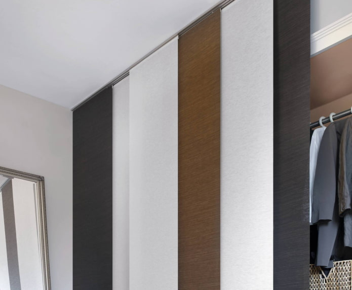panneaux de toile japonaise dans le dressing