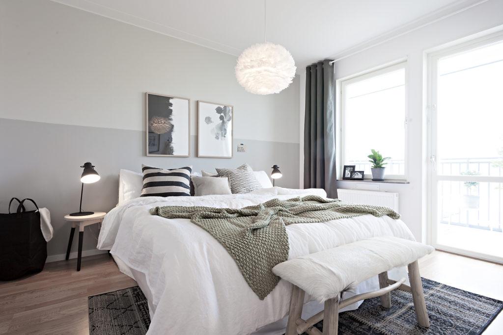Conception de chambre confortable de style scandinave