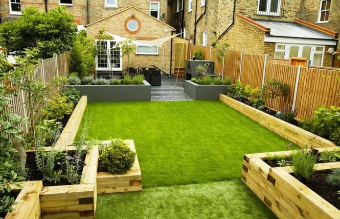 pelouse sur le site
