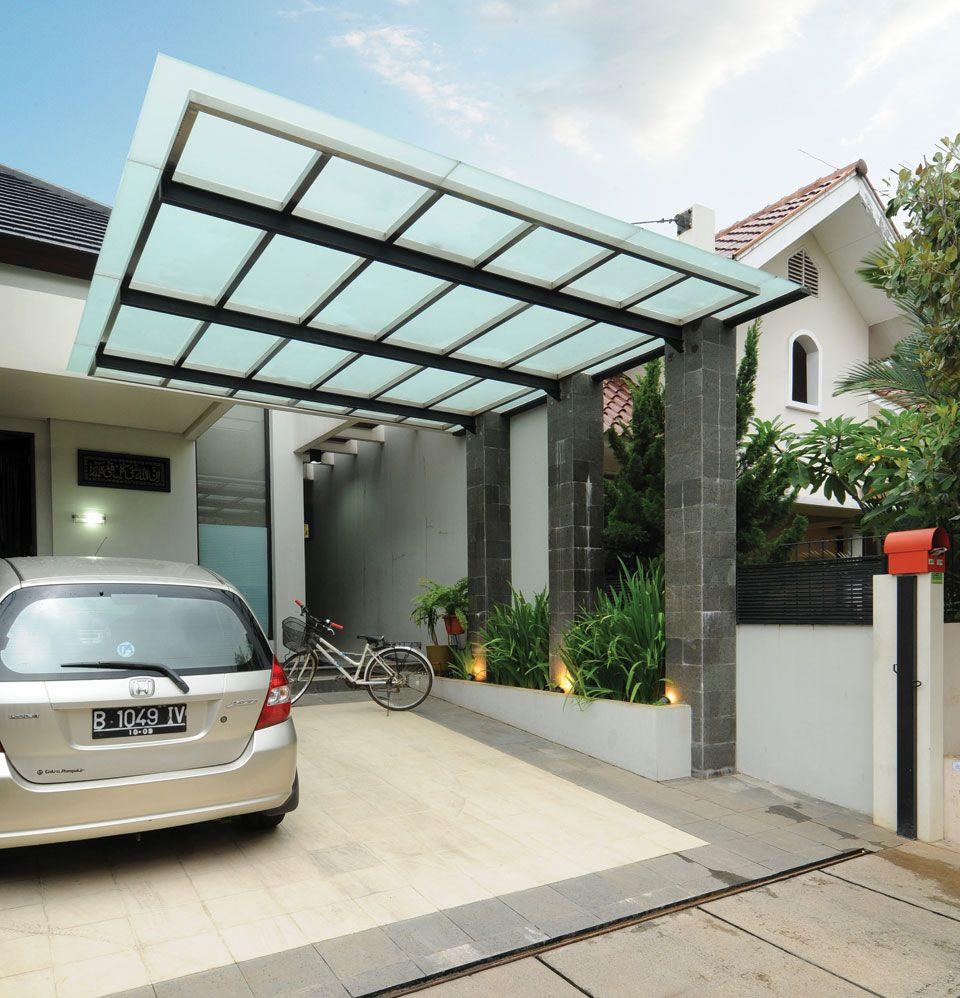 Carport de toit en verre pour une voiture