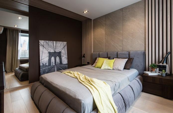 meubles à l'intérieur de la chambre marron