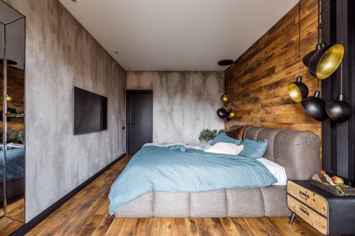intérieur de la chambre gris-brun