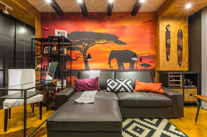 chambre de style safari