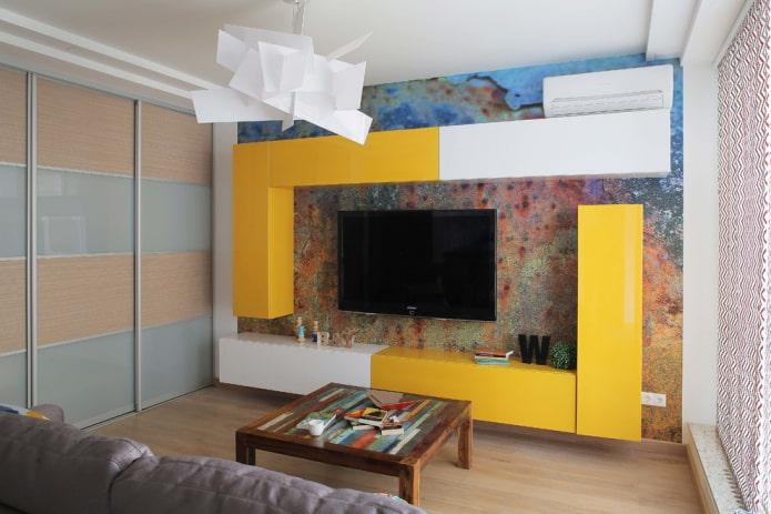 Imprimez sur le mur avec un téléviseur