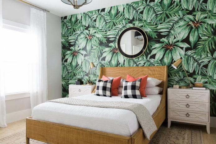 Papier peint photo sur la tête de lit