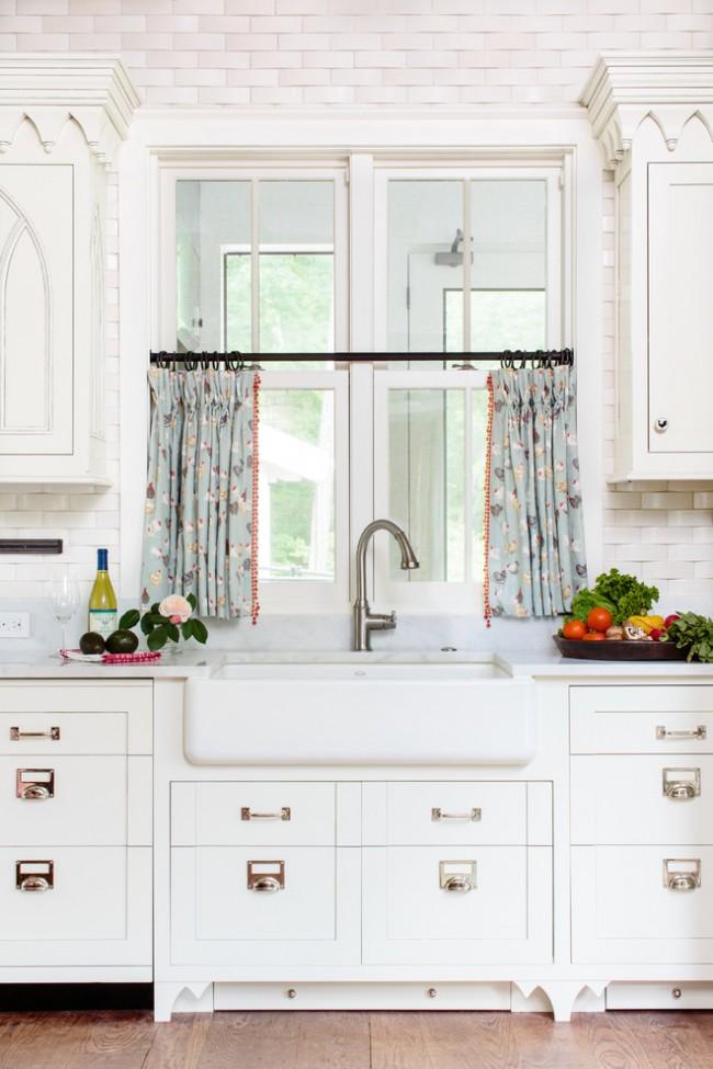 Conception de rideaux pour la cuisine avec style