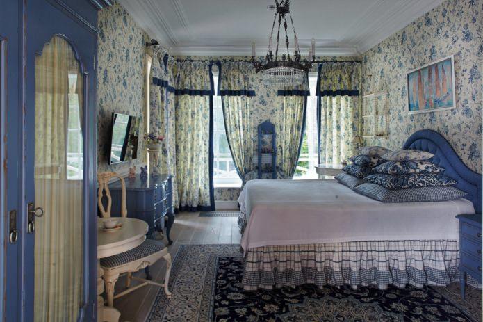 rideaux de chambre de style campagnard
