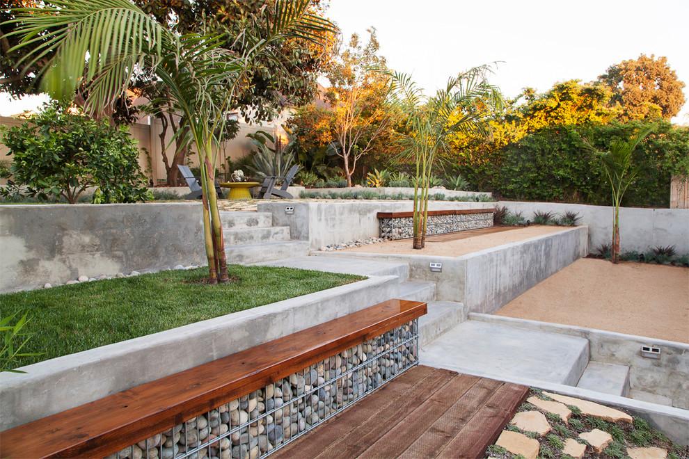 L'utilisation de structures en gabions pour créer des bancs de jardin