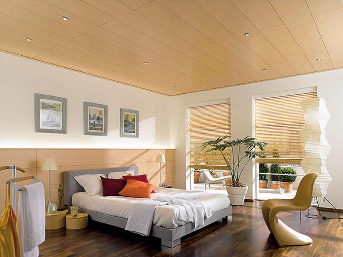 panneaux en bois mdf dans la chambre