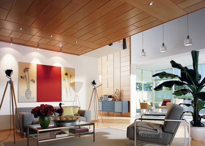 panneaux en bois mdf dans le salon