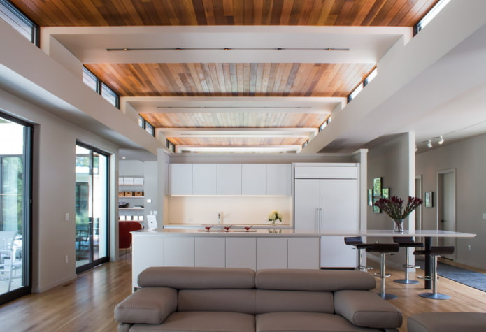 plafond combiné à l'intérieur