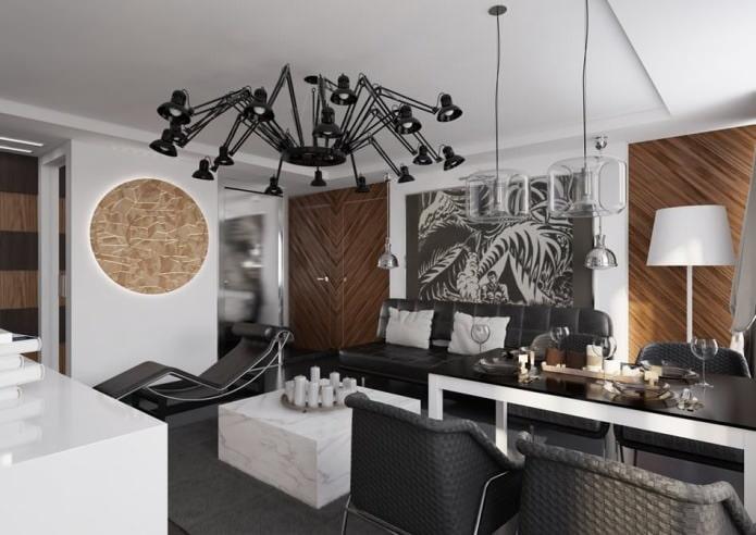 l'intérieur de l'appartement est de 54 m².  m.