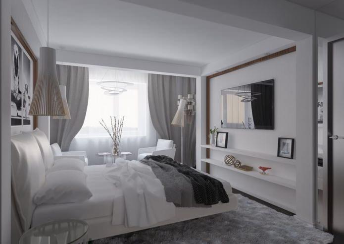 chambre à l'intérieur d'un appartement de 54 m².  m.