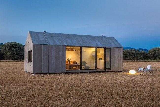Petite maison de plain-pied au style scandinave
