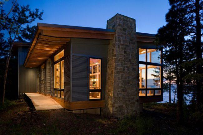Maison moderne de plain-pied sur un projet individuel