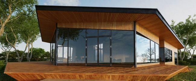 Projet individuel d'une maison à un étage avec une géométrie non standard