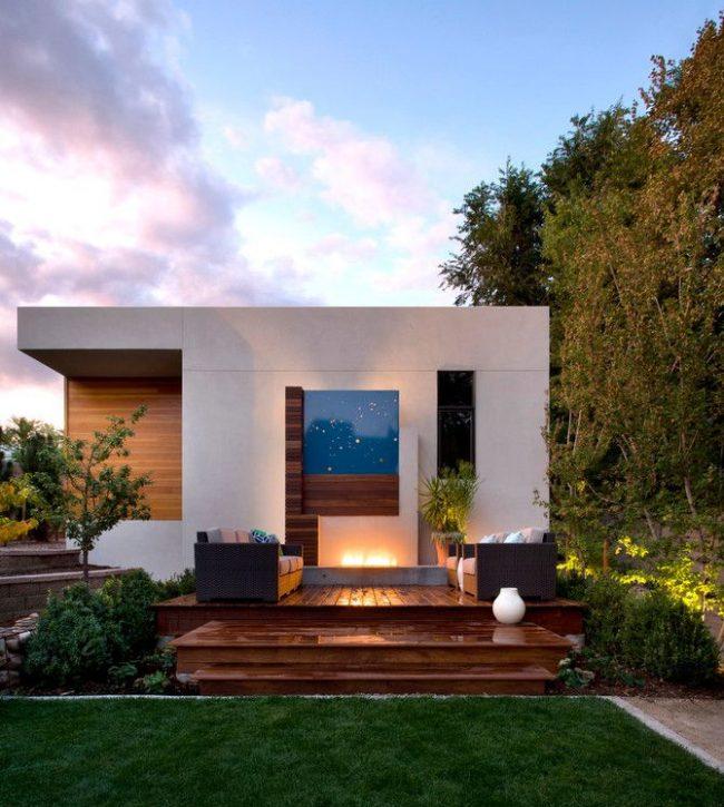Maison de plain-pied sur un projet individuel dans le style Art Nouveau